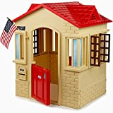 Toddler Playhouse for Kids Children 2 Years Old Min Beige Color Shutters Doors Play Game Entertainment Patio Lawn Garden Porch Backyard Balcony & eBook by Easy&FunDeals