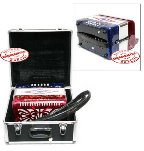 Rossetti 31 Button Accordion 12 Bass FBE Red by Rossetti (Image #2)