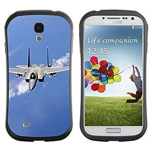 Fuerte Suave TPU GEL Caso Carcasa de Protección Funda para Samsung Galaxy S4 I9500 / Business Style Nature Fighter Jet