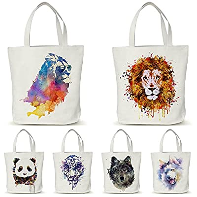 Maxry(TM) Canvas Eco Shopping Bags Friendly Reusable Grocery Shopper Tote Handbags Women Shoulder Bag Animal D30