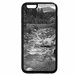 iPhone 6S Plus Case, iPhone 6 Plus Case (Black & White) - River in the forest