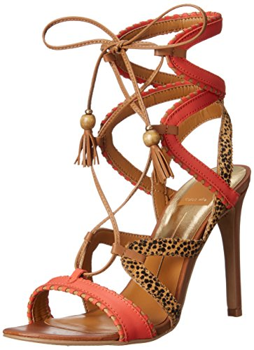 Dolce Vita Womens Haven Gladiator Sandaal Rood / Oranje / Multi