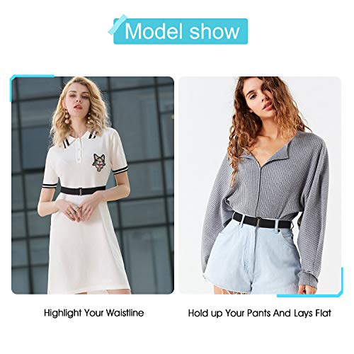263ba96ff8 No Show Women Stretch Belt Invisible Elastic Web Strap Belt with Flat Buckle  for Jeans Pants