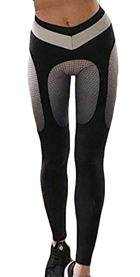 e49e97aef1b7 WSPLYSPJY Womens Summer Yoga Pants for Women Fitness Mesh Workout Leggings  Winter Garter Yoga Capris Light