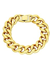 15mm 14k Gold Plated Flat Cuban Link Curb Chain