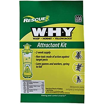 RESCUE! Non-Toxic Wasp, Hornet, Yellowjacket Trap Attractant Refill, 2 Weeks