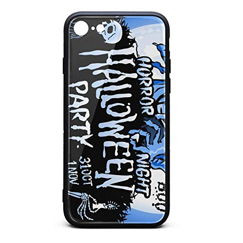 Phone Case for iPhone 7/iPhone 8 Halloween Zombie Sneaks Up TPU Gel Protective Stylish Anti-Scratch Fashionable Glossy Anti Slip Thin Shockproof Soft -
