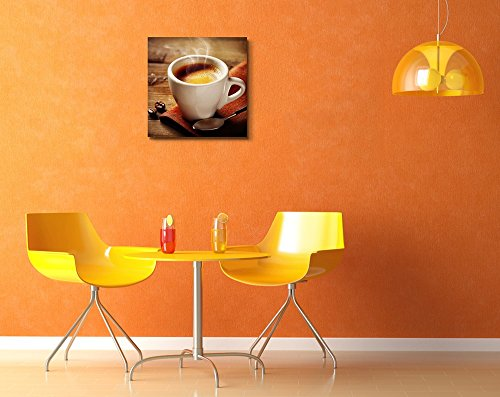White Smoke Rising from a Cup of Espresso Coffee Wall Decor