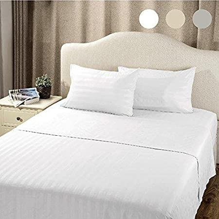 Bedding Bedding 5* 400 Thread Count 100% Egyptian Cotton Fitted Sheet Flat Sheet All Uk Sizes Bright Luster