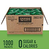 WHOLE EARTH SWEETENER Stevia and Monk Fruit Sweetener, Erythritol Sweetener, Sugar Substitute, Zero Calorie Sweetener, 1,000 Stevia Packets