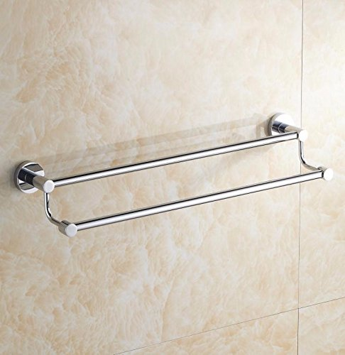 Hlluya Bathroom Accessory Set Towel Rack, Stainless Steel, Double Towel Bars, Wall Mounted, Bathroom Shelf,71cm