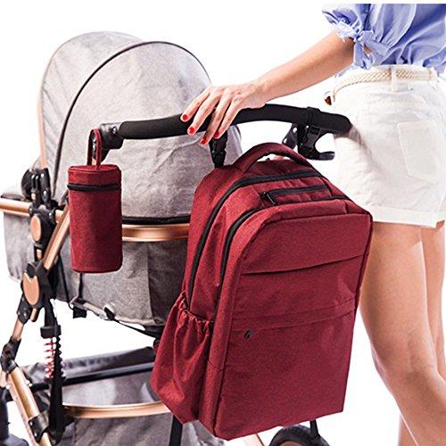 Paño de Oxford Mochila de viaje multifunción bolsa de bolsa de pañales bebé manos libres para pañales mochila gran capacidad mamá bolsa asequible rojo rosso Rojo
