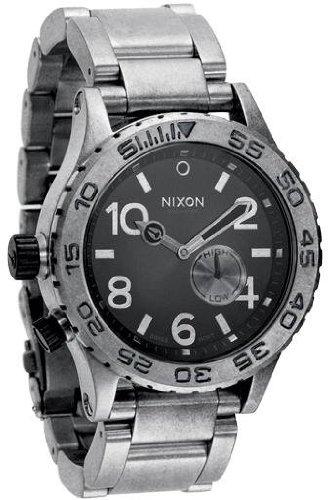 [ニクソン]NIXON 腕時計 42-20 フォーティートゥー トゥエンティー ANTIQUE SILVER/BLACK NA035479-00 メンズ [正規輸入品] B002OOW4Z4