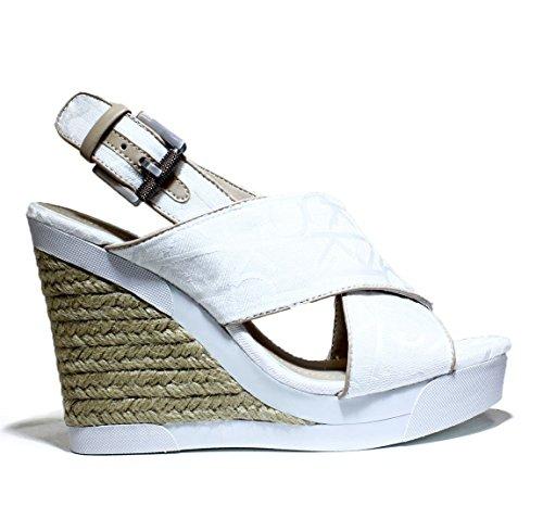 Calvin Klein Jeans Elaine, Sandalias con cuña mujer blanco