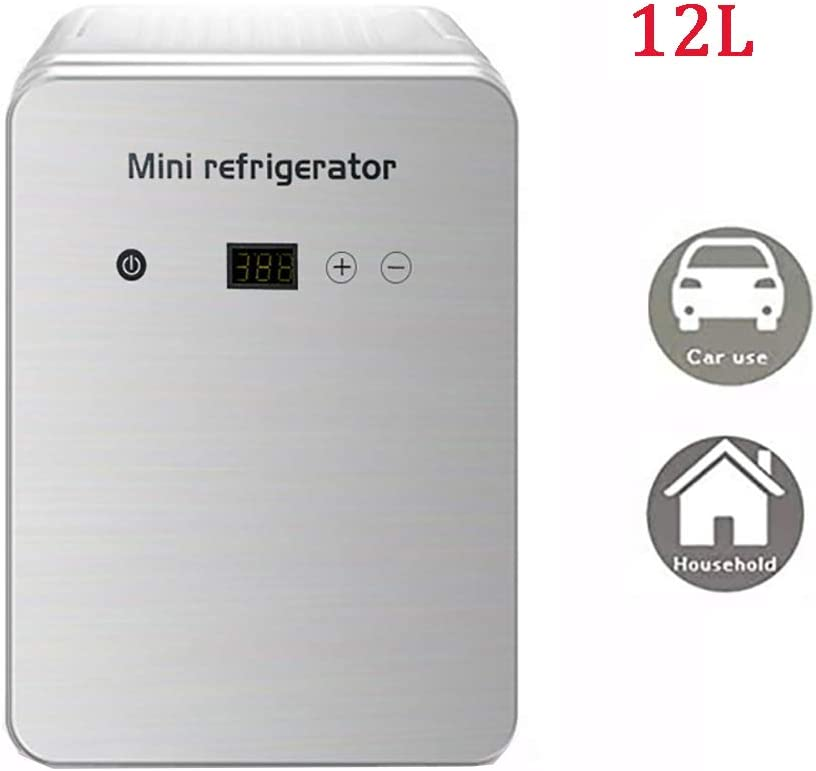 Foods ZFMG Mini Fridge 12 Liter Medications AC//DC Portable Thermoelectric Cooler And Warmer for Skincare Home And Travel
