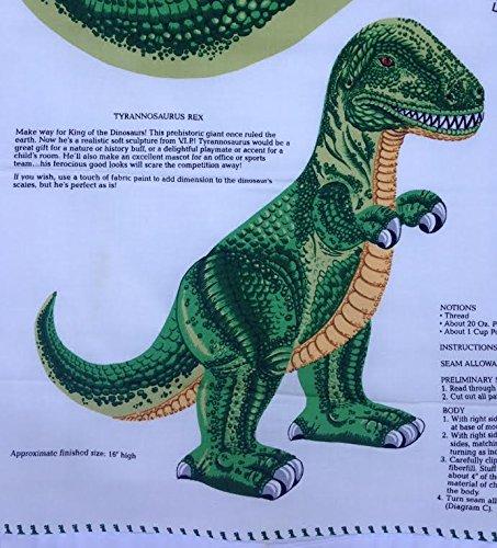 Tyrannosaurus Rex Pillow Or Stuffed Animal Shaped Fabric Panel