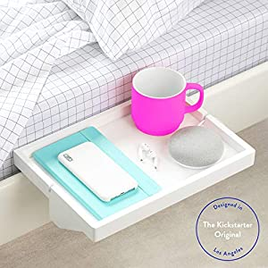 BedShelfie The Original Bedside Shelf – 9 Colors / 4 Sizes – AS SEEN ON Business Insider as The Perfect College Dorm…