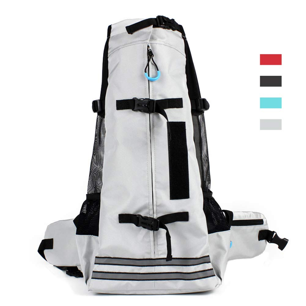Grey L grey L RC GearPro Dog Carrier Backpack, Pet Bag for Hiking Travel Camping Outdoor (L, Grey)
