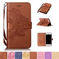 iPhone 7 Plus Case, Firefish [Kickstand] Flip Folio Wallet Cover Shock Resistance Protective Shell with Cards Slots Magnetic Closure Emboss Style for Apple iPhone 7 Plus