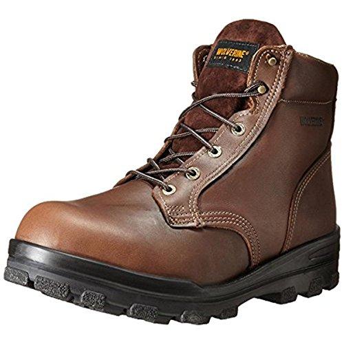 Wolverine Men's 6 Inch Steel Toe WPF Dura Work Boot, Brown, 13 M US