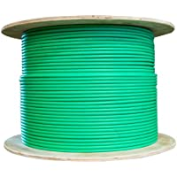 CableWholesales Bulk Dual Cat6 and Dual RG6U Quad Shield with Green Outer Jacket, Spool, 500 foot