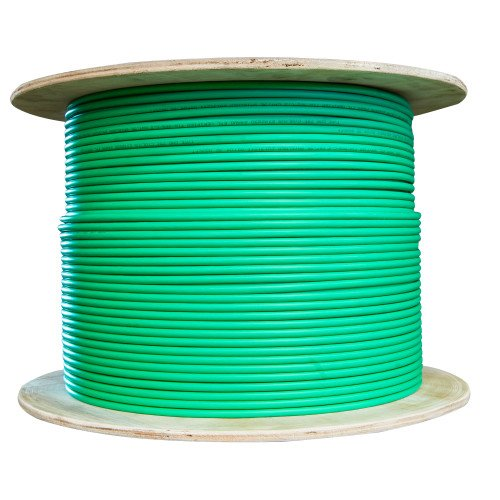 CableWholesale's Bulk Dual Cat6 and Dual RG6U Quad Shield with Green Outer Jacket, Spool, 500 foot by CableWholesale