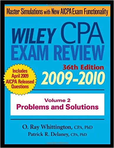 Wiley CPA Examination Review Problems And Solutions Vol 2 Volume Edition