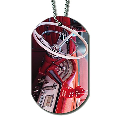 Bsll De Football Rose - Collier Dog Tag Color23