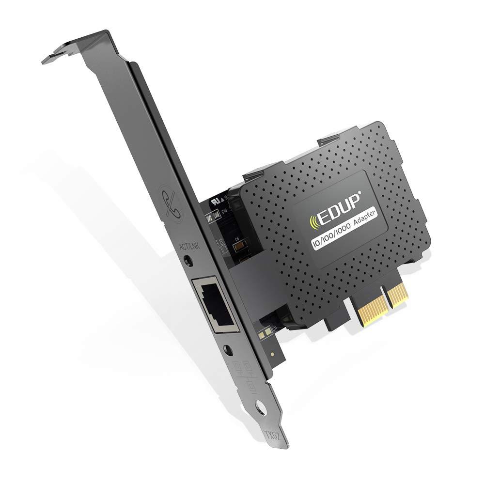 Edup Gigabit Ethernet Pci Express Tarjeta De Red Pci-e 10/100/1000 Mbps Convertidor De Adaptador Lan Rj45 Para Pc De Esc