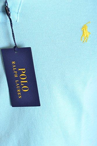 Ralph Lauren Herren MCBI251173O Hellblau Baumwolle Poloshirt