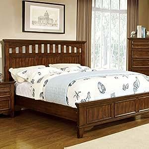chelsea cottage style cherry finish eastern king bed frame set home kitchen. Black Bedroom Furniture Sets. Home Design Ideas