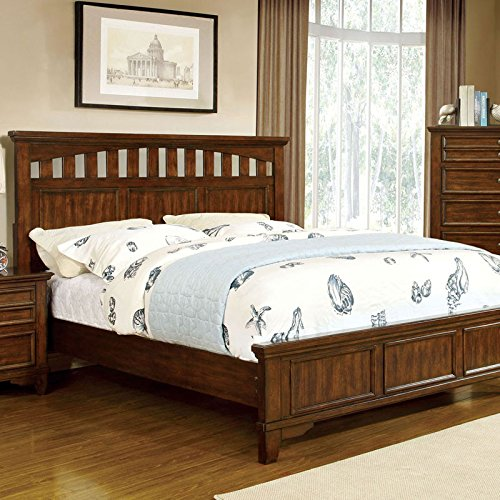 Chelsea Cottage Style Cherry Finish Cal King Size Bed Frame Set