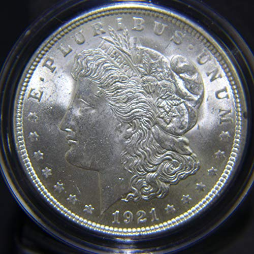 (1921 Morgan Silver Dollar Frosty Luster $1 AU)