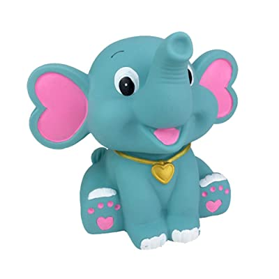 PTYQU Cute Baby Elephant Piggy Bank Cartoon Elephant Coin Bank Animal Money Coin Bank for Kids Girls Boys Home Decorations Festival Brithday Gifts (Hot Blue): Home & Kitchen