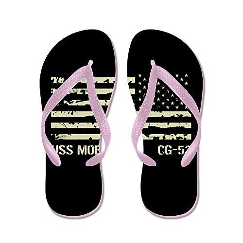 Cafepress Uss Mobile Bay - Flip Flops, Grappige String Sandalen, Strand Sandalen Roze