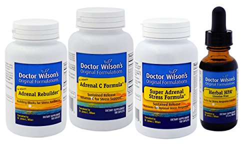 Dr. Wilson's Adrenal Fatigue Quartet (150 Count with HPA 2oz) by Doctor Wilson's Original Formulations
