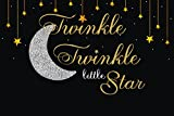 7x5ft gold Twinkle Twinkle Little Star moon Birthday Backdrop Vinyl cloth Computer print Baby Shower Backgrounds
