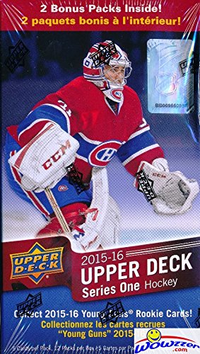 2015/2016 Upper Deck Series 1 NHL Hockey HUGE Factory Sealed Retail Box with 12 Packs ! Includes TWO(2) Young Guns Rookies!  Look for Conner McDavid Young Guns Rookie Selling for around $250 ! HOT!