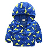 5 year old boys jackets - Lyxinpf Little Boys Hooded Jacket Dinosaur Windbreakers Zipper Coats OuterwearBlue Dinosaur 5 T