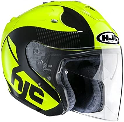 Amazon.es: Casco de moto HJC FG-JET ACADIA MC4, Negro/Amarillo, M
