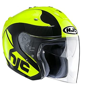 HJC 144004XS - Casco de moto, amarillo, XS