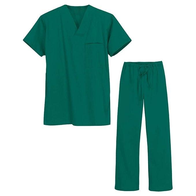 ... Secado Rápido Antiestático Antibacterial Antioxidante Médica Manga Corta Abrigo Y Pantalones Split Body Unisex Médica: Amazon.es: Ropa y accesorios