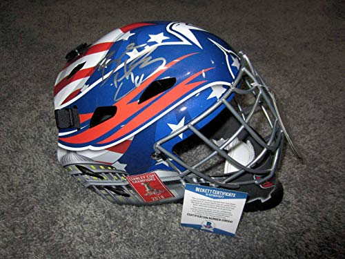 BRADEN HOLTBY Washington Capitals 2019 Cup Banner SIGNED Goalie Mask W/BAS COA - Beckett Authentication
