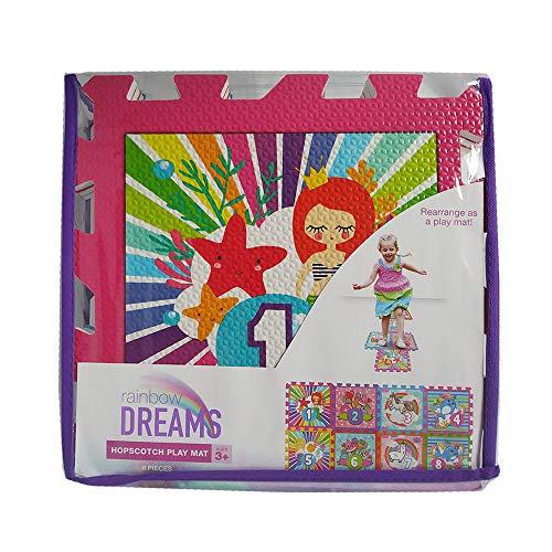 Hopscotch Playmat for Girls Interlocking Foam Carry Bag