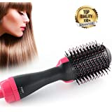 One Step Hair Hot Air Brush,Dryer Straightener& Volumizer Paddle Multifunctional Hot Comb High-Power Negative Ion Generator Hair Curler Brush for Women