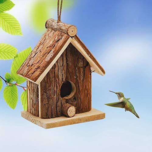 - Flying Spoon Wooden Bird Houses Handmade Hanging Birdhouse for Indoor and Outdoors Decor Garden Patio Decorative for Bluebirds, Wrens & Chickadees