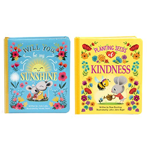 2 Pack Padded Board Books - Planting Seeds of Kindness & Will You Be My Sunshine Board Books (Love You Always)