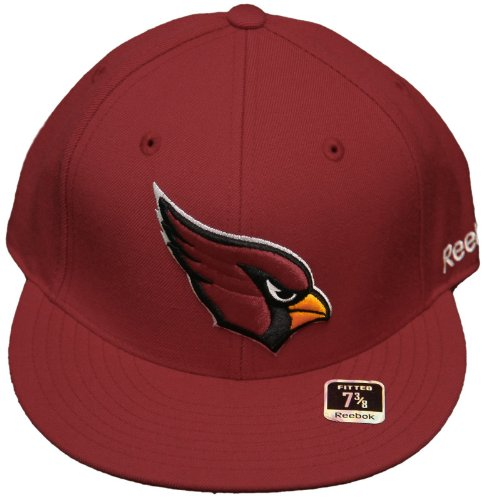 Cap Reebok Embroidered (New! 7 1/2 Arizona Flatbill Fitted Hat - 3D Embroidered Cap - Burgundy)