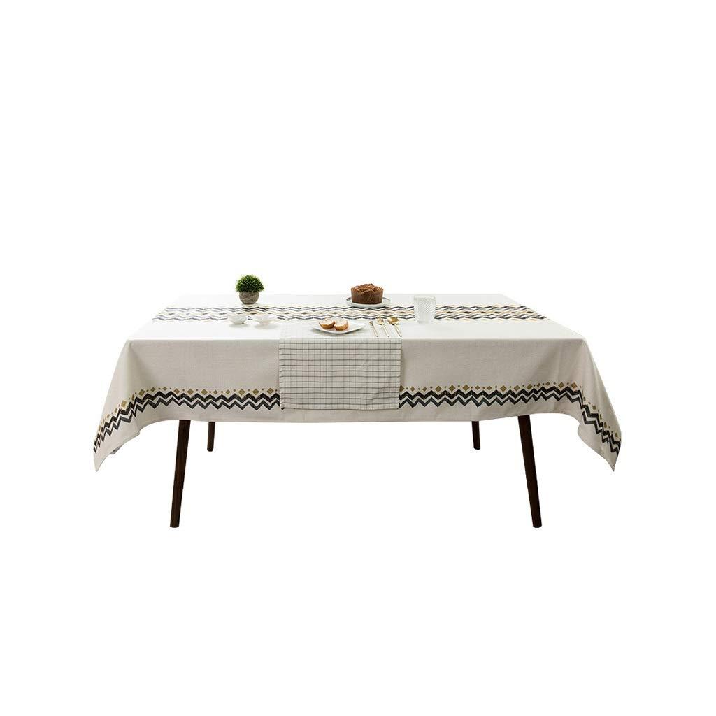 Gquan テーブルクロス綿と麻の幾何学模様30°水温クリーニング低温アイロンかけサイズ4オプションのキッチンレストランパーティーピクニック屋内屋外用 (Size : 140*200cm) 140*200cm  B07SL8Q9PX