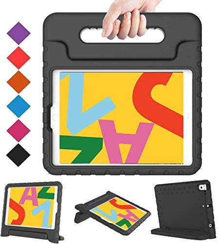 BMOUO Kids Case for iPad 10.2 2019, iPad 10.2 Case, iPad 7th Generation Case, Shock Proof Light Weight Convertible Handle Stand Kids Case for Apple iPad 10.2 inch 2019, Black
